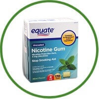Equate Nicotine Gum Polacrilex 4 Mg